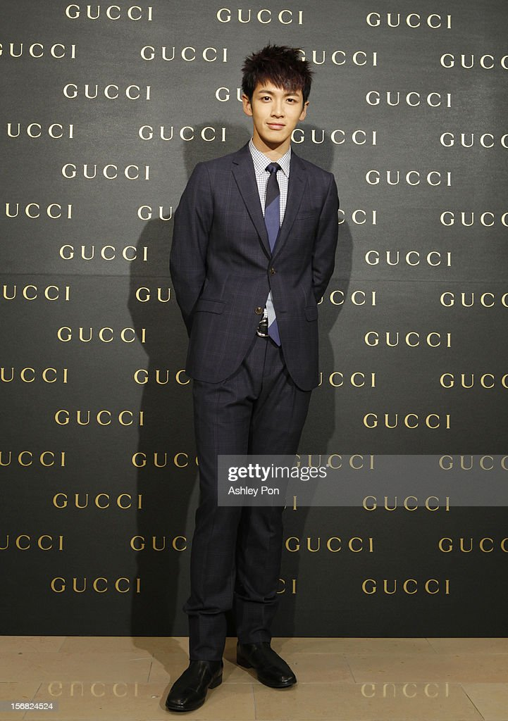 Chen-Tung Ko poses for a photograph at the Gucci Flagship store opening at Taipei101 on November 22, 2012 in Taipei, Taiwan.