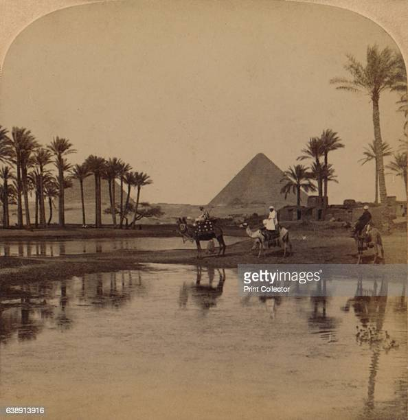 Cheops from the fertile Valley of the Nile Egypt' 1896 From The Underwood Travel Library Egypt [Underwood Underwood London New York 1896] Artist...