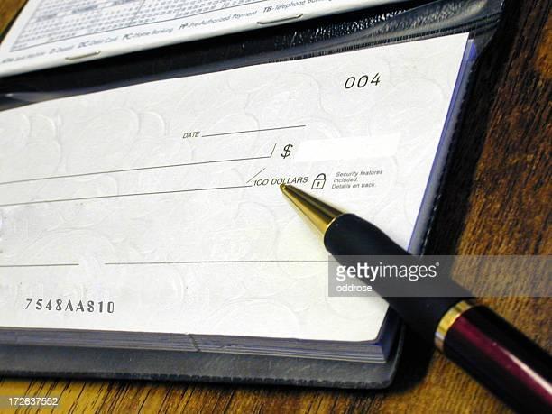 Chequebook & pen