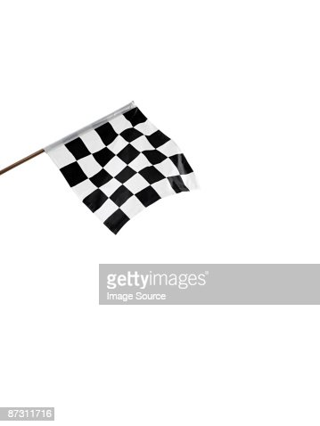 A chequered flag