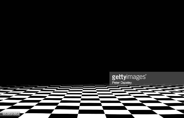 Chequered floor with copy space
