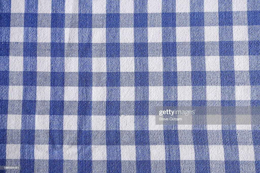 Chequered tablecloth