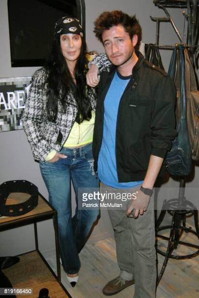 Cher and Aaron Axelrod attend Elijah Blue 'Stuff of Legends' presented by Kantor Gallery and Madison Gallery at Malibu on July 2 2010