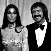 Cher and Sonny Bono attend 45th Annual Academy Awards on March 26 1973 at the Dorothy Chandler Pavilion in Los Angeles California