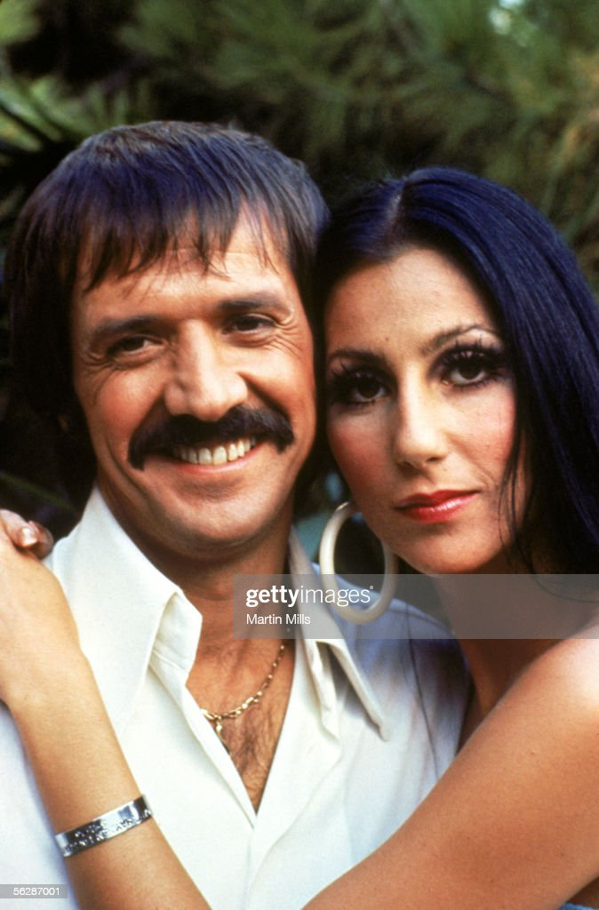 Cher and Sonny Bono pose for a promotional photo for 'The Sonny and Cher Show' circa 1968-1970.