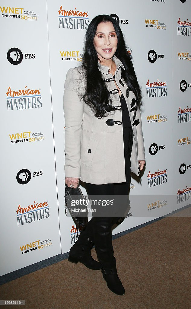 <a gi-track='captionPersonalityLinkClicked' href=/galleries/search?phrase=Cher+-+Artista&family=editorial&specificpeople=203036 ng-click='$event.stopPropagation()'>Cher</a> arrives at the Los Angeles premiere of 'Inventing David Geffen' held at Writer's Guild Theater on November 13, 2012 in Los Angeles, California.