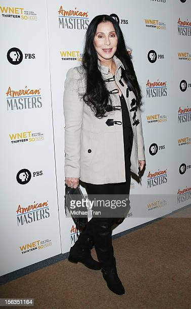 Cher arrives at the Los Angeles premiere of 'Inventing David Geffen' held at Writer's Guild Theater on November 13 2012 in Los Angeles California
