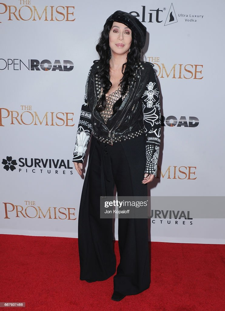 Cher arrives at the Los Angeles Premiere 'The Promise' at TCL Chinese Theatre on April 12, 2017 in Hollywood, California.