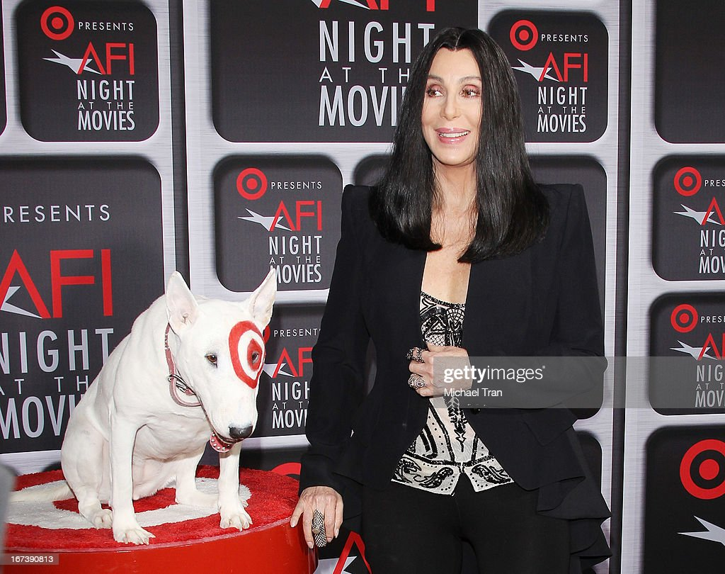 <a gi-track='captionPersonalityLinkClicked' href=/galleries/search?phrase=Cher+-+Artist&family=editorial&specificpeople=203036 ng-click='$event.stopPropagation()'>Cher</a> arrives at the Target presents AFI Night at the movies held at ArcLight Hollywood on April 24, 2013 in Hollywood, California.