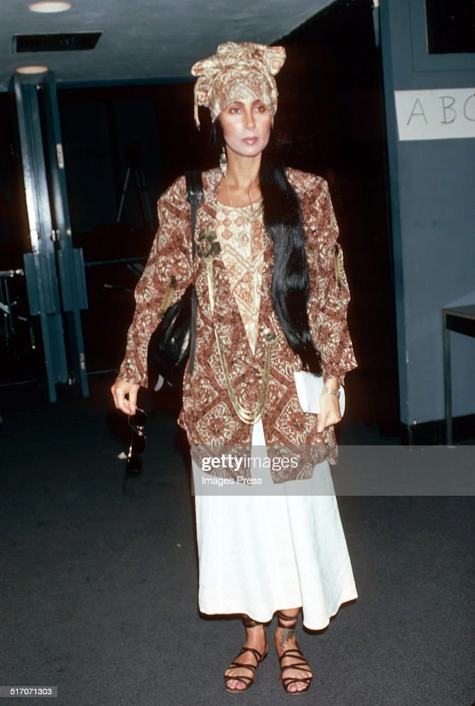 Cher attends a Bob Mackie runway show at the Parsons School of Design circa 1986 in New York City