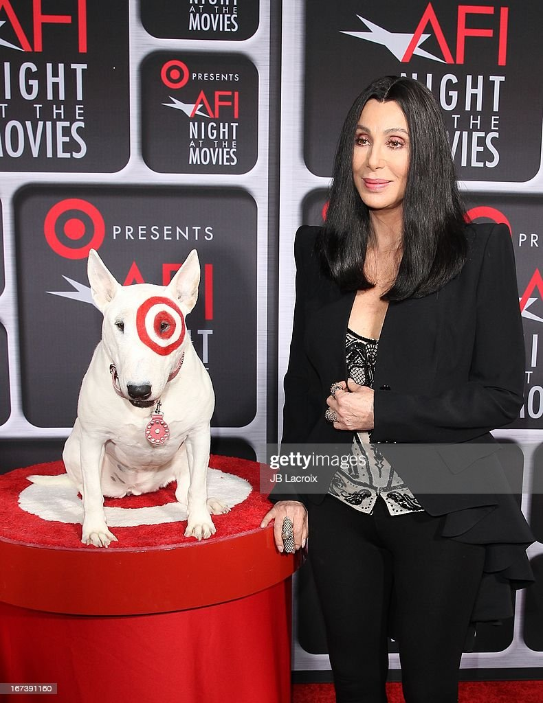 <a gi-track='captionPersonalityLinkClicked' href=/galleries/search?phrase=Cher+-+Artist&family=editorial&specificpeople=203036 ng-click='$event.stopPropagation()'>Cher</a> attends the AFI Night At The Movies presented by Target held at ArcLight Hollywood on April 24, 2013 in Hollywood, California.