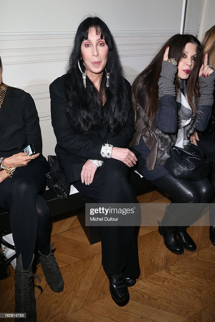 Cher attends the Gareth Pugh Fall/Winter 2013 Ready-to-Wear show as part of Paris Fashion Week on February 27, 2013 in Paris, France.