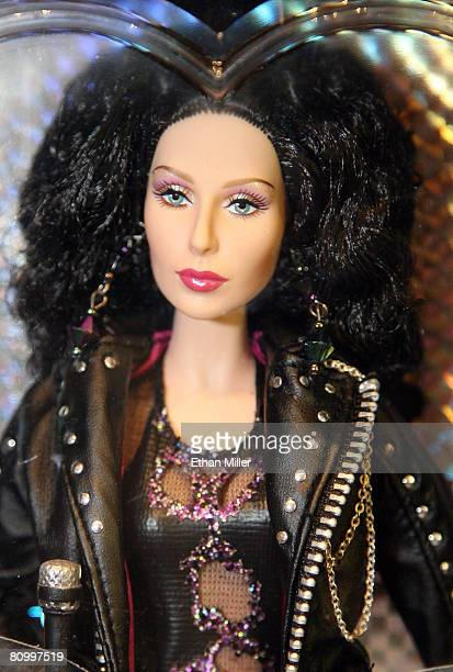 Cher Barbie doll is seen at a Cher and Bette Midler boutique outside The Colosseum at Caesars Palace May 5 2008 in Las Vegas Nevada Cher's new show...
