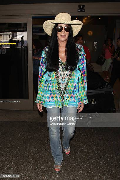 Cher is seen at LAX on July 12 2015 in Los Angeles California