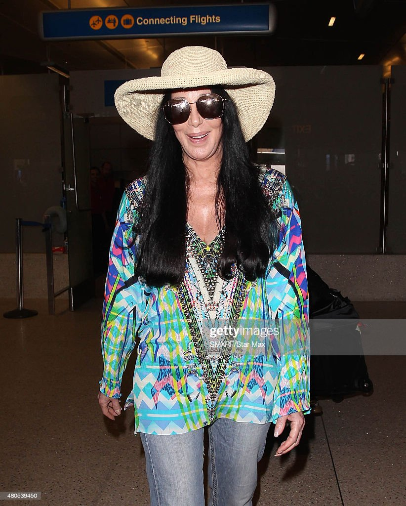 Cher is seen on July 12, 2015 in Los Angeles, California.