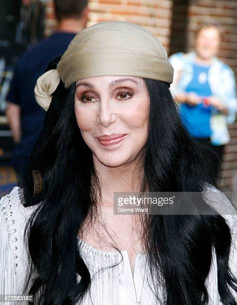Cher leaves the 'Late Show with David Letterman' at the Ed Sullivan Theater on May 6 2015 in New York City