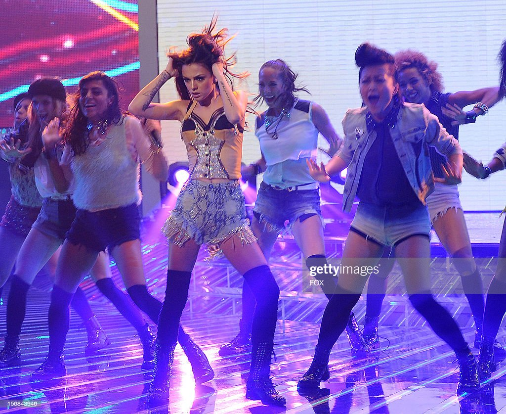 Cher Lloyd onstage at FOX's 'The X Factor' Season 2 Top 10 to 8 Live Elimination Show on November 22, 2012 in Hollywood, California.