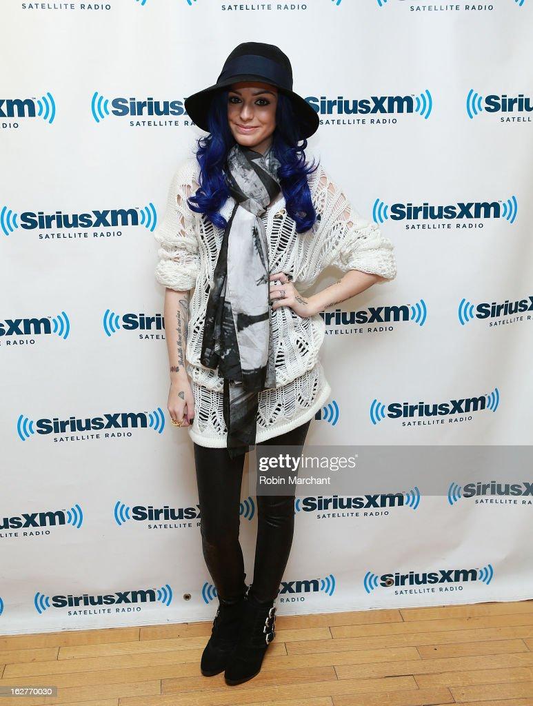 Cher Lloyd visits the SiriusXM studios on February 26, 2013 in New York City.