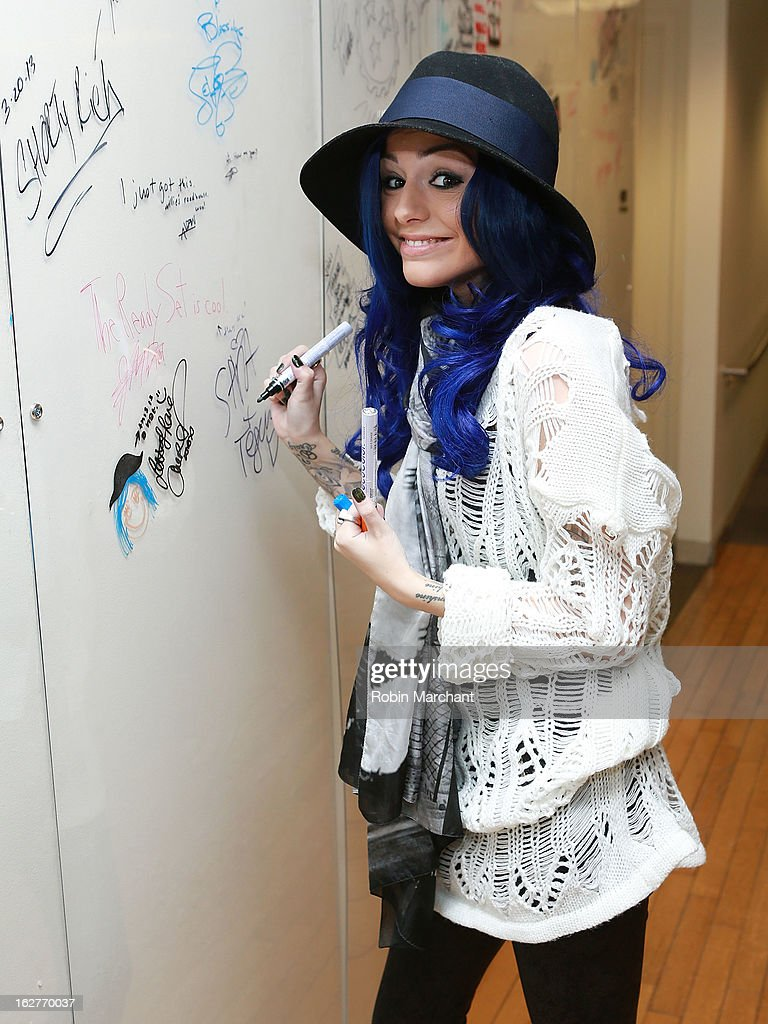 Cher Lloyd visits the SiriusXM studios on February 26, 2013 in New York City.