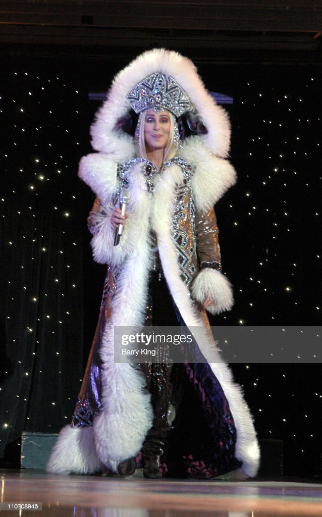 Cher performing on her Living Proof Farewell Tour in San Bernardino California at the Hyundai Pavilion on August 30 2003 This was the 173rd show on...