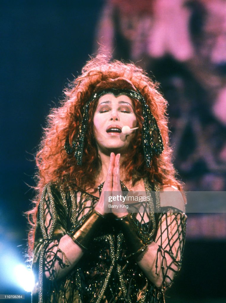 Cher performing on stage on her 'Do You Believe' world tour.
