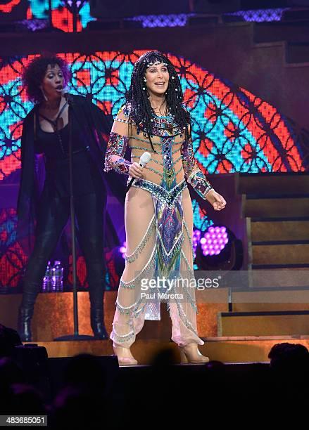 Cher performs in concert at TD Garden on April 9 2014 in Boston Massachusetts
