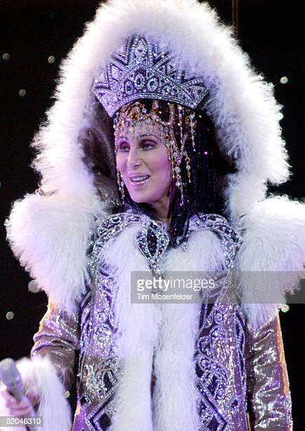 Cher performs part of her 'Farewell Never Can Say Goodbye Tour' at The HP Pavilion on January 21 2005 in San Jose California