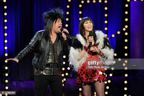 Cher performs with James Corden during 'The Late Late Show with James Corden' Thursday October 20 2016 On The CBS Television Network