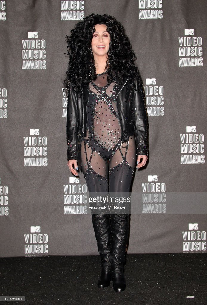 Cher poses in the press room during the MTV Video Music Awards at NOKIA Theatre L.A. LIVE on September 12, 2010 in Los Angeles, California.