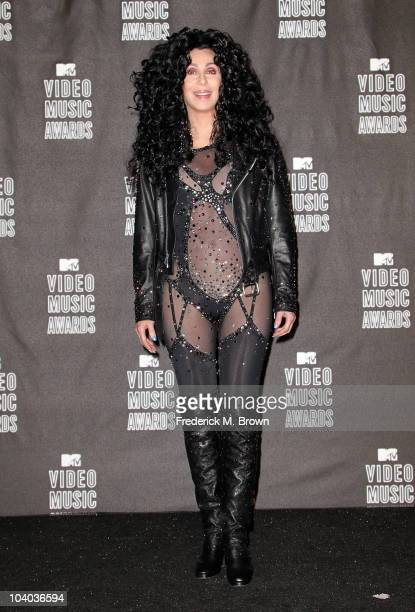 Cher poses in the press room during the MTV Video Music Awards at NOKIA Theatre LA LIVE on September 12 2010 in Los Angeles California