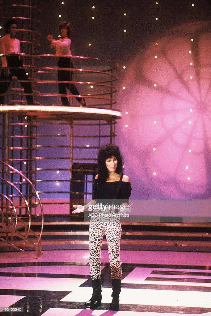 BANDSTAND - 7/24/1982, <a gi-track='captionPersonalityLinkClicked' href=/galleries/search?phrase=Cher+-+Performer&family=editorial&specificpeople=203036 ng-click='$event.stopPropagation()'>Cher</a> sings 'I Paralyze' on American Bandstand.,