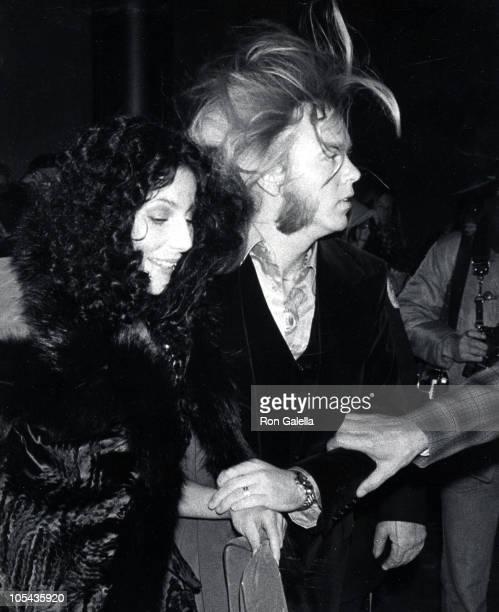 Cher_Gregg Allman during CBS Inaugural Gala January 19 1977 at Kennedy Center in Washington DC Washington DC United States