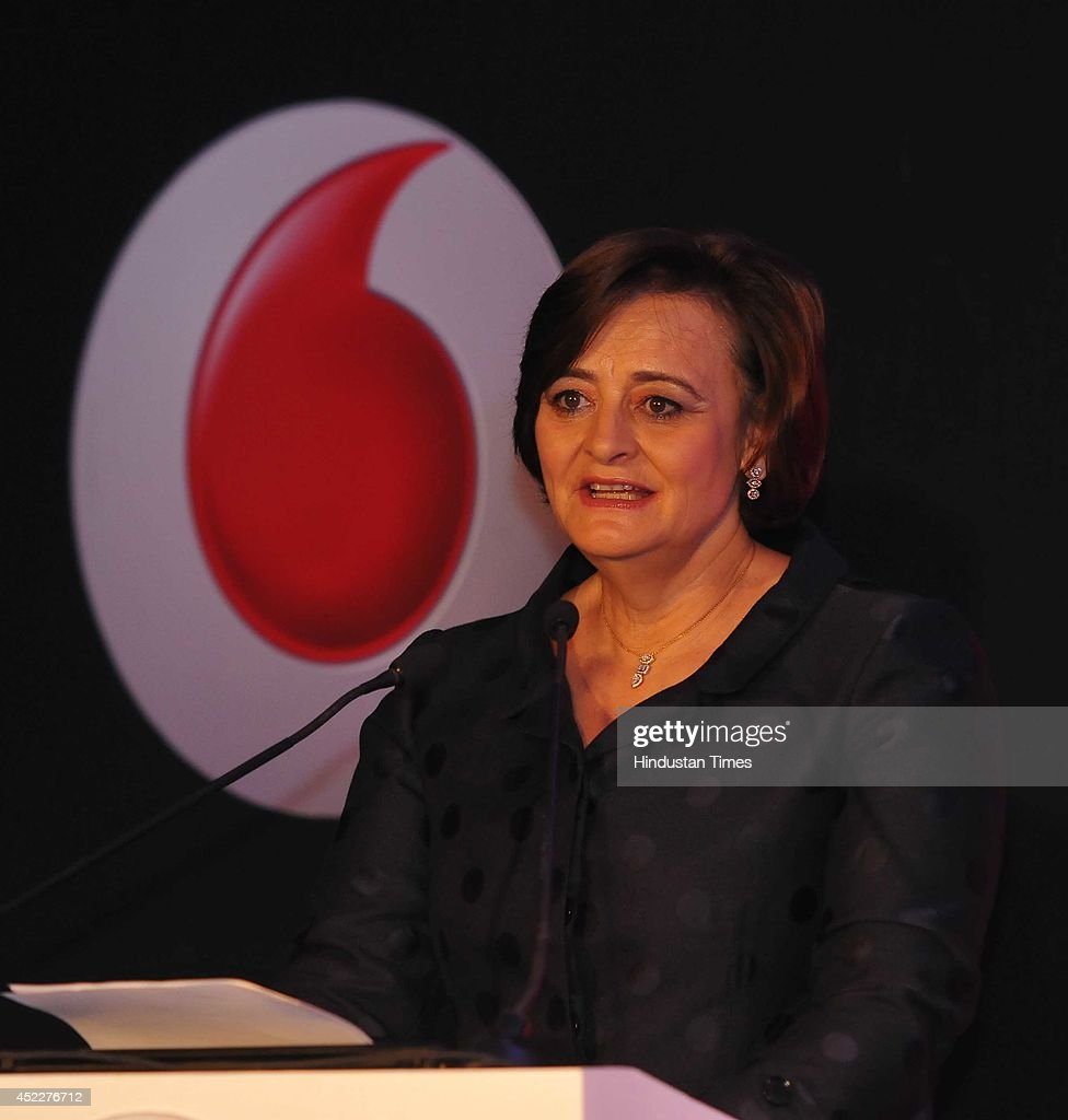 Cherie Blair, founder Cherie Blair Foundation for women, during the launch of Vodafone connected women report 2014 on July 17, 2014 in New Delhi, India. According to the released report, providing women with greater access to mobile phones and services could lead to a 29 billion dollar increase in annual global productivity from 2020, as a result of greater female participation in the workforce and savings in public services.
