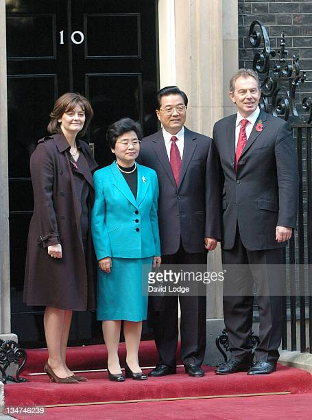 Cherie Blair Liu Yongqing the President's Wife Chinese President Hu Jintao and Prime Minister Tony Blair