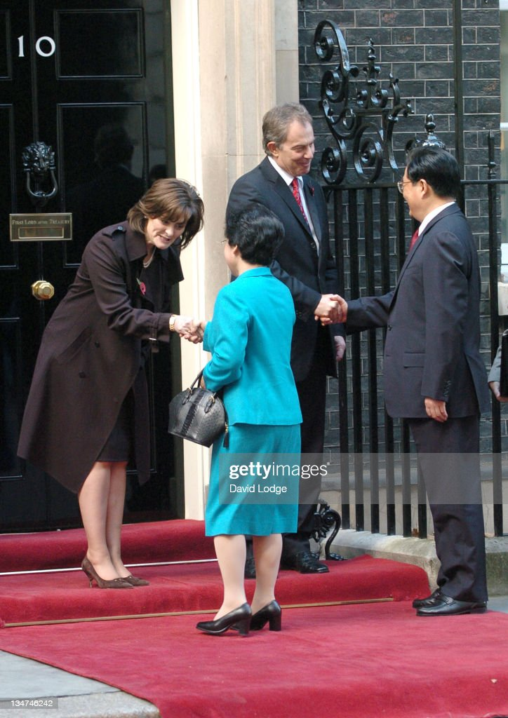 Cherie Blair Liu Yongqing the President's Wife Chinese President Hu Jintao and Prime Minister Tony Blair