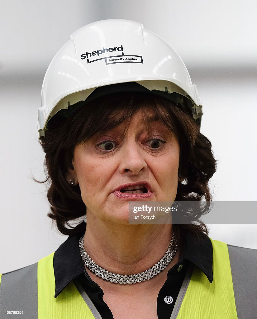 <a gi-track='captionPersonalityLinkClicked' href=/galleries/search?phrase=Cherie+Blair&family=editorial&specificpeople=158226 ng-click='$event.stopPropagation()'>Cherie Blair</a>, the wife of former British Prime Minister and former MP for Sedgefield, Tony Blair joins her husband as he visits the construction site for the new Hitachi Trains Europe factory as he returns to his old constituency on April 7, 2015 in Sedgefield, England. The visit came as part of Labour's campaign build up ahead of the General Election on May 7 which is predicted to be Britain's closest national election.
