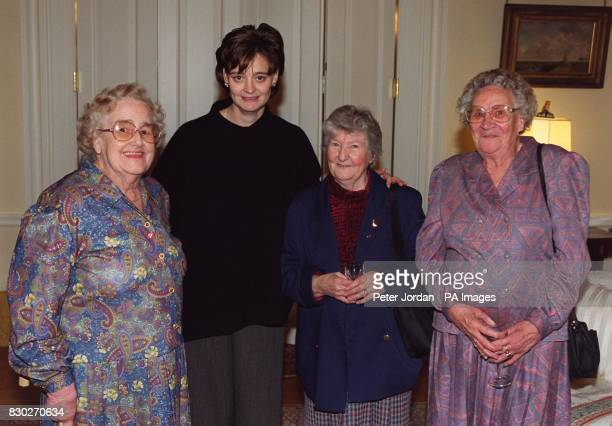 Cherie Blair the wife of the Prime Minister with Mrs Mabel Hayles from Stonehouse Gloucestershire Joan Edey from Lydney Gloucestershire and Betty...