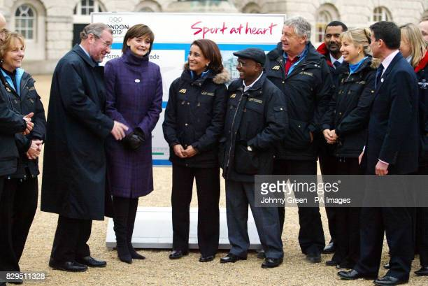 Cherie Blair with members of the International Olympic Committee's evaluation commission at Horse Guards parade
