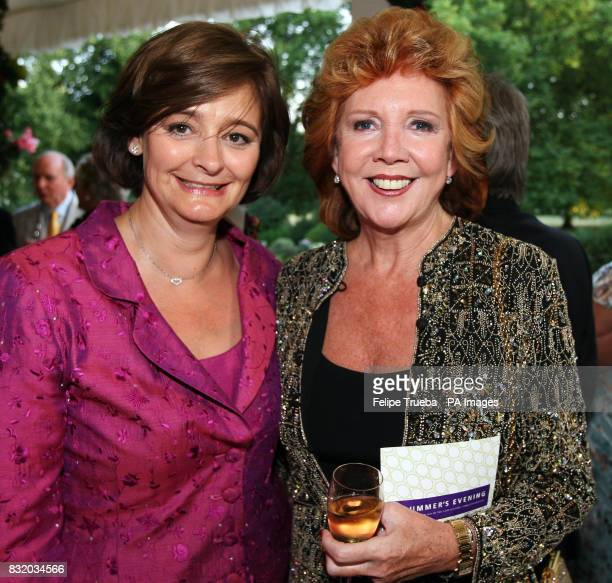 Cherie Booth QC and Cilla Black at the A Summer's Evening party hosted by the Earl Countess Spencer in aid of the Sir Cliff Richard Tennis Foundation...