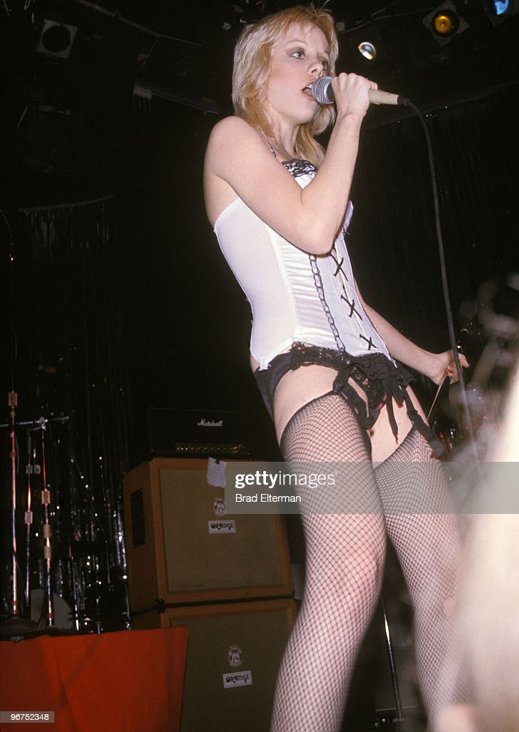 Cherie Currie of The Runaways in concert at The Whiskey A Go Go in Los Angeles, California.