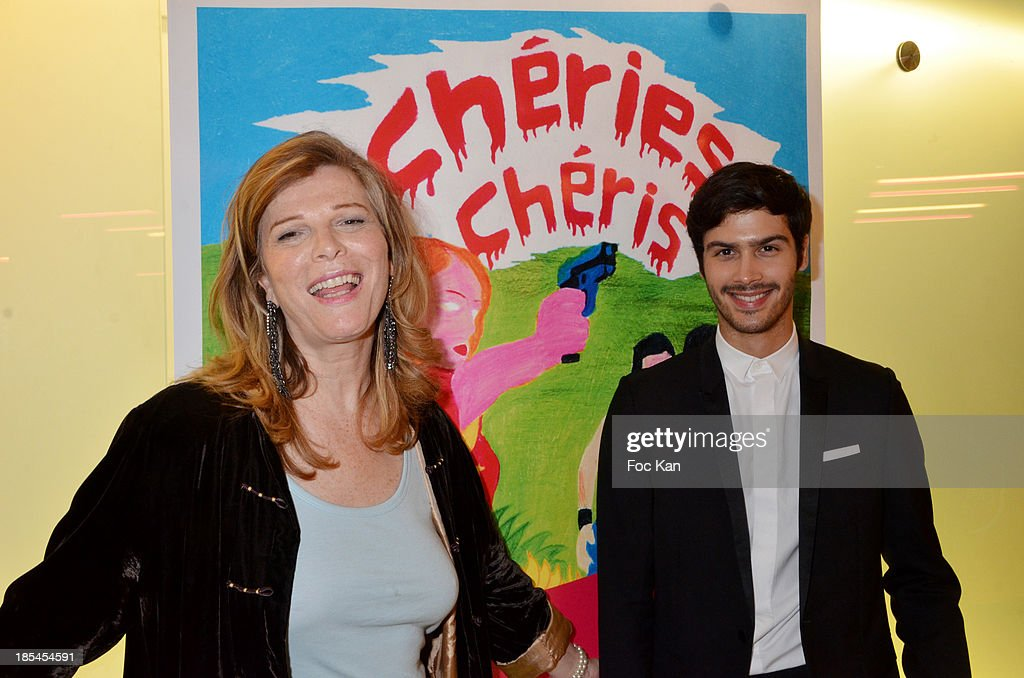 Cheries Cheris Jury President Pascale Ourbih and comedian Jesse Raymond Lacroix attend the 'Cheries Cheris' Gay Lesbian Transexual 19th Film Festival Closing Ceremony At The Forum DesHalles on October 20, 2013 in Paris, France.