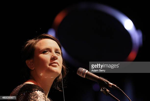 Cherilyn MacNeil of Dear Reader performs during a concert at Volksbuehne on January 1 2014 in Berlin Germany