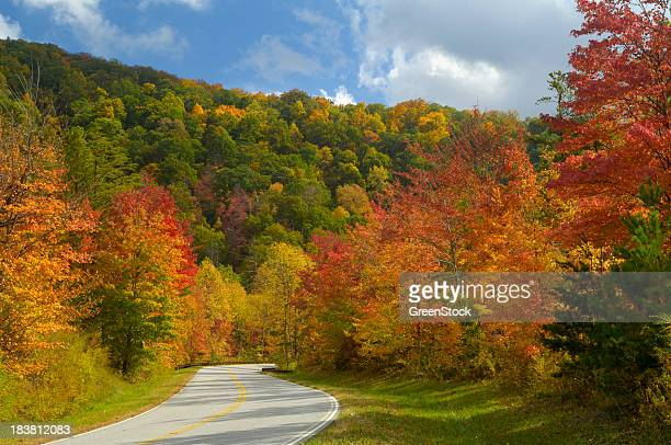 Cherohala Skyway in Late October, NC, USA