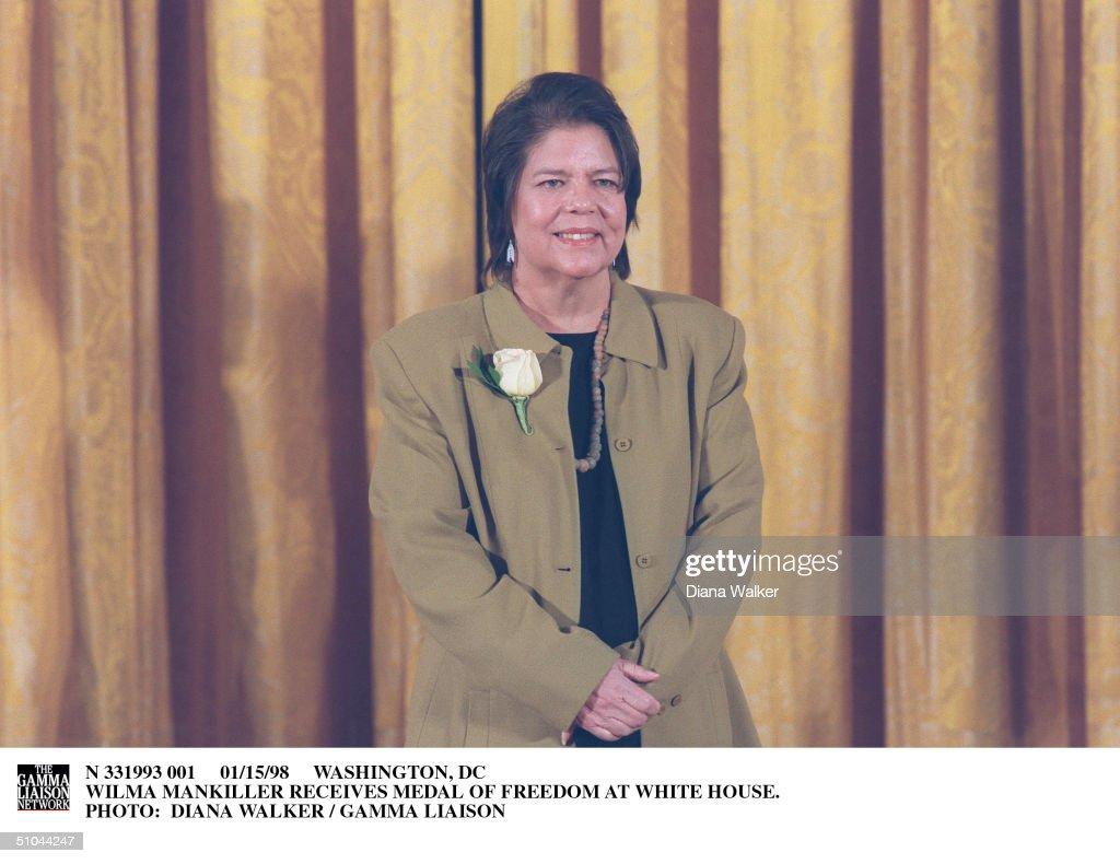 Washington, Dc Wilma Mankiller Receives Medal Of Freedom At White House.