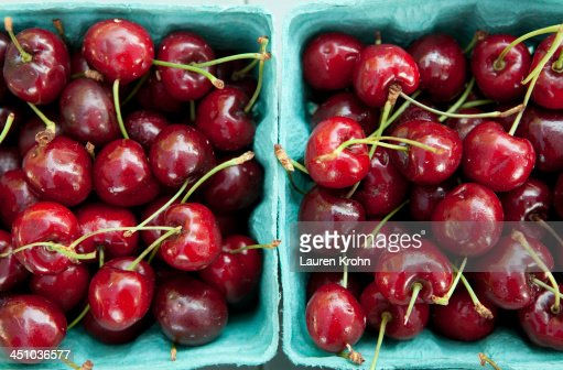 Cherries at a Farmers Market