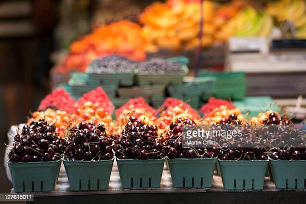 cherries, Granville Island Market, Vancouver