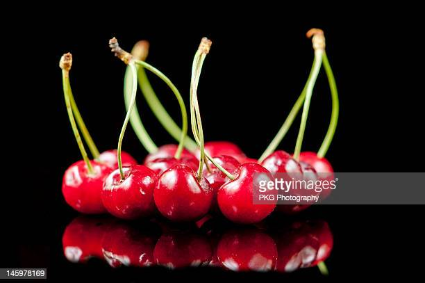 Cherries on black