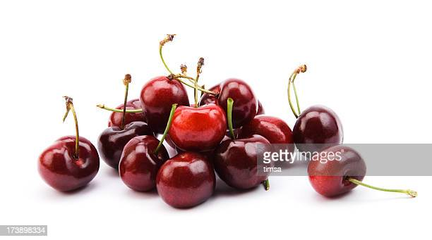 Cherries on white