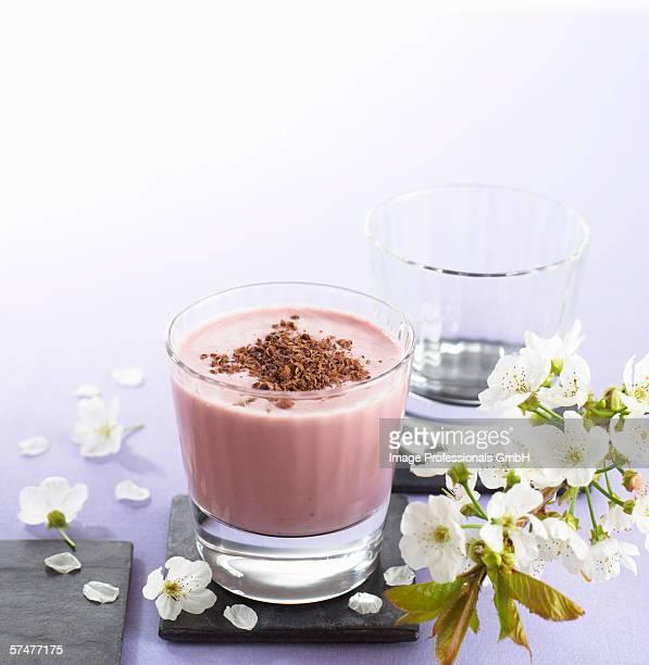 Cherry and chocolate shake