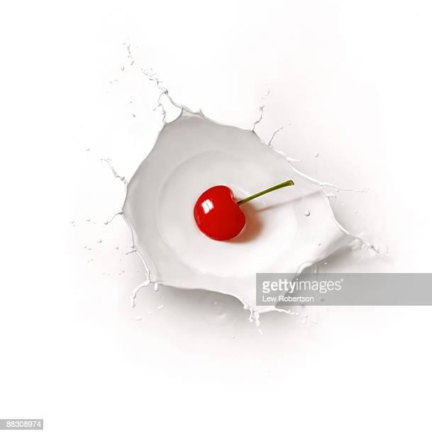 Cherry and milk splash